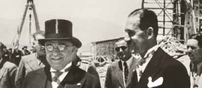 With I. Metaxas in 1936