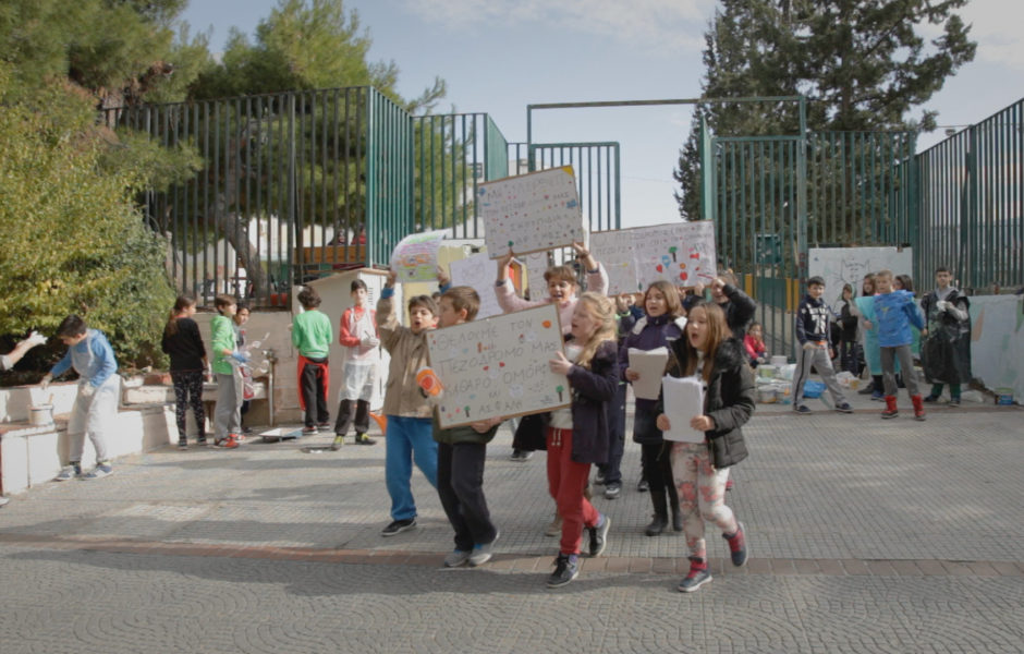 Young schoolkids taking action thanks to the project