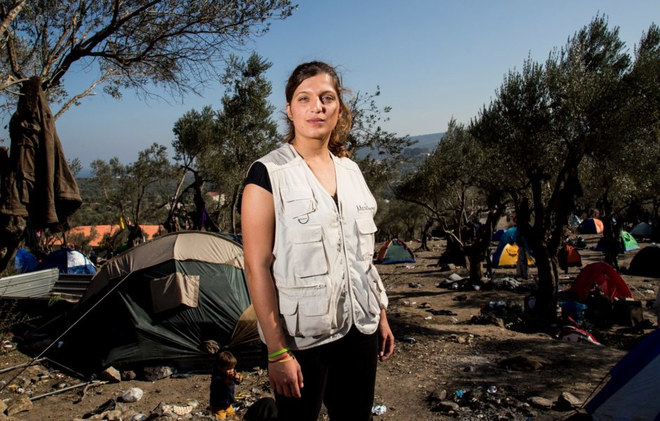 Christina Dimakou, a young lawyer and guardian of unaccompanied minors in Lesvos. Photo Credits: Nikos Pilos