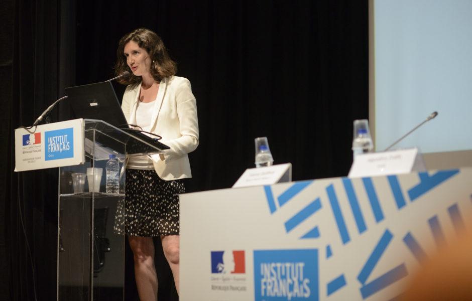 Η κα Laurence de Nervaux, κεντρική ομιλήτρια της εκδήλωσης