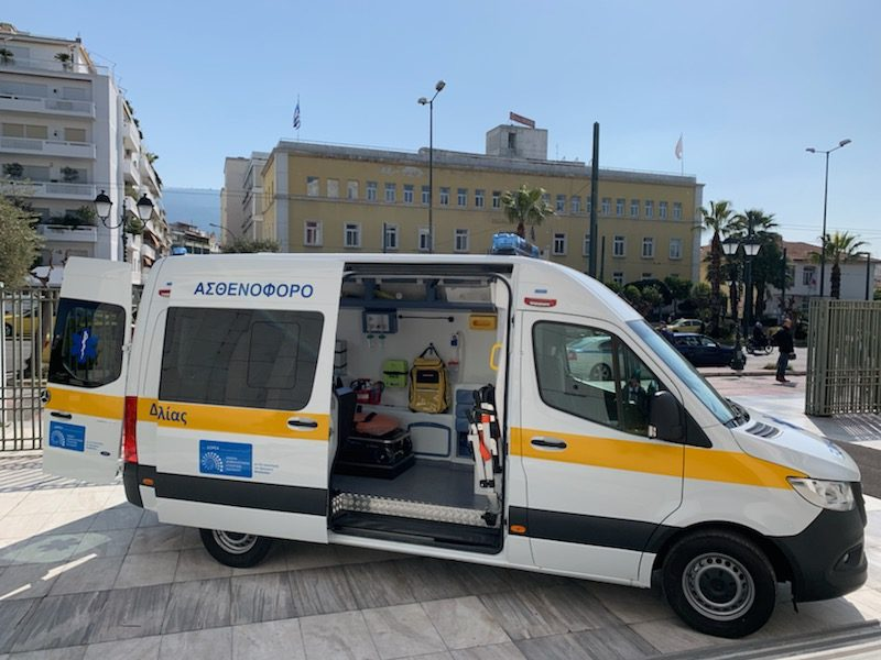 A fully-equipped ambulance for the Municipality of Mandra-Eidyllia